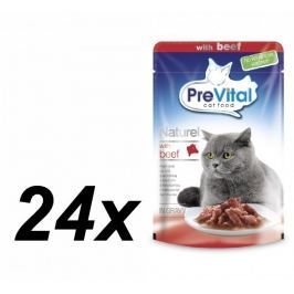 PreVital saszetki dla kota NATUREL z wołowiną w sosie - 24 x 85 g