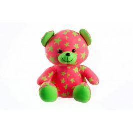 Teddies Świecący w ciemności miś, różowo-zielony