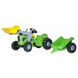 Rolly Toys Traktor Kid Futura z łyżką i przyczepą, zielony