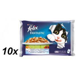 Felix saszetki dla kota FELIX multipack - mięso z warzywami, 10x (4 x 100g)