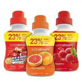Sodastream syropy grejpfrutowy, malinowy i retro cola 750 ml