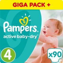 Pampers Pieluchy Active Baby 4 Maxi, GiantBox, 90 sztuk