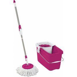 LEIFHEIT Zestaw Clean Twist Disc Mop, różowy