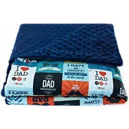 CuddlyZOO Dětská deka s výplní, vel. M - táta/modrá
