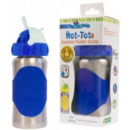 Pacific Baby Termobutelka ze słomką Hot-Tot 260 ml, niebieska