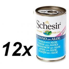 Schesir mokra karma dla kota z tuńczykiem i aloesem 12 x 140g