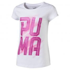 Puma Koszulka Font Tee Girls Puma White 140