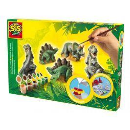 SES Komplet dinozaurów do odlania i pomalowa