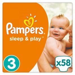 Pampers Pieluchy Sleep&Play 3 Midi, 58 szt.