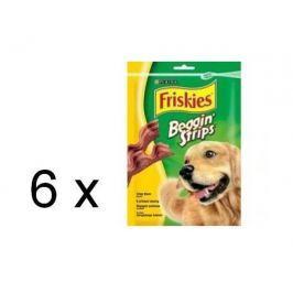 Friskies przysmak dla psa Beggin Strips o smaku bekonu, 6 x 120g