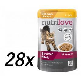 Nutrilove Cat pouch NMP, jelly chicken 28 x 85g