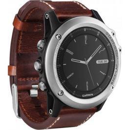 Garmin zegarek sportowy fenix 3, Sapphire, Silver Leather