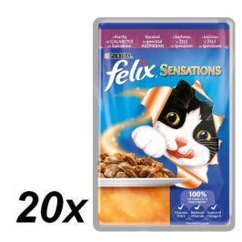 Felix Sensations - kaczka ze szpinakiem w galaretce - 20x100g