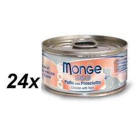 Monge mokra karma dla psa Natural kurczak z szynką - 24 x 95 g