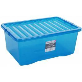 WHAM Pudełko z pokrywą 45l Crystal, niebieskie