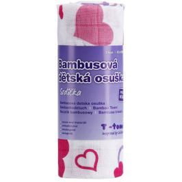 T-tomi Ręcznik bambusowy, serca