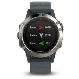 Garmin smartwatch fénix 5 Silver, Granite band