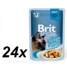 Brit Premium Cat Delicate Fillets Kurczak w sosie 24X85g