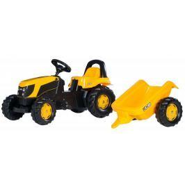 Rolly Toys Traktor na pedały Rolly Kid JCB z przyczepą, żółty
