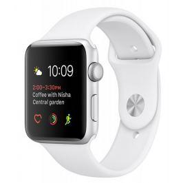 Apple Watch Series 1, 38 mm, srebrny/biały