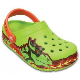 Crocs buty CrocsLights Fire Dragon Clog K Volt Green 23-24 (C7)