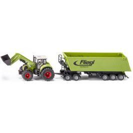 SIKU Traktor z przednią ładowarką i przyczepą S1949