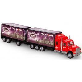 GearBox Ciężarówka z przyczepą 1:32, czerwona