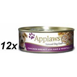 Applaws mokra karma dla psa Chicken & Ham & Vegetables 16x156 g