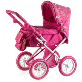 Teddies Wózek dla lalek z torbą, różowy