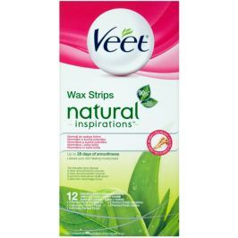 Veet woskowe plastry Wax Strips Natural Inspirations - 12 szt