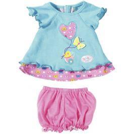 BABY born Niebieska sukienka z motylkiem