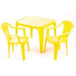 Grand Soleil Stolik i dwa krzesła dla dzieci, żółte