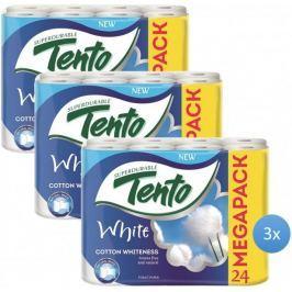 Tento white cotton whiteness papier toaletowy - 3x24 szt.