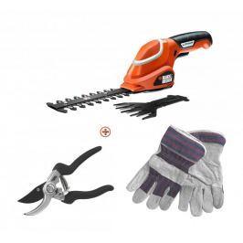 Black+Decker nożyce do trawy GSL700 + sekator + rękawice