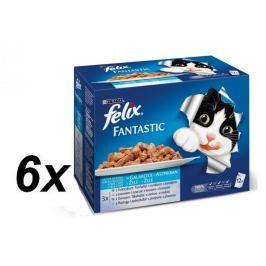 Felix saszetki dla kota FELIX multipack - rybny wybór, 6x (12x100g)