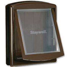 Staywell Drzwiczki z przezroczystą klapą, Duże, brązowy