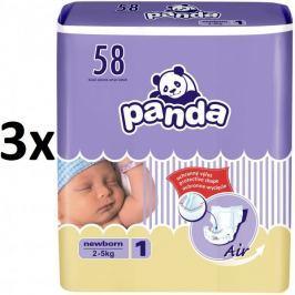 Panda Pieluchy New Born - 174 szt (3x58)