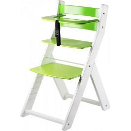 Wood Partner Krzesełko do karmienia LUCA, biało-zielone