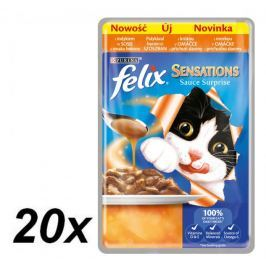Felix Sensations Sauce Surprise - indyk w sosie o smaku bekonu - 20x100g