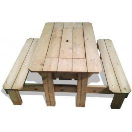 CUBS Stół piknikowy z plastikowym pudełkiem
