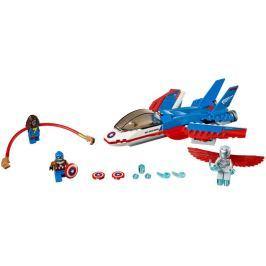 LEGO Super Heroes 76076 Odrzutowiec Kapitana Ameryki