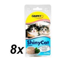 Gimpet mokra karma dla kociąt SHINY CAT kitten - kurczak - 8x (2 x 85g)