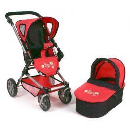 Bayer Chic Wózek dla lalek FIDES 2 w 1, czerwony/czarny