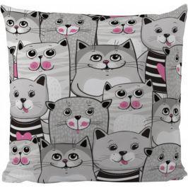 Butter Kings Poduszka Grey Kitties 50 x 50 cm