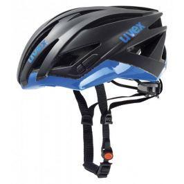 Uvex kask rowerowy Ultrasonic Race Black Mat-Blue 52-56