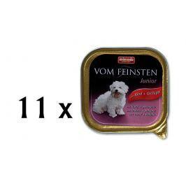 Animonda mokra karma dla psa Vom Feinstein Junior - wołowina + kurczak - 11x150g