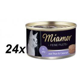 Finnern mokra karma dla kota Miamor filet z tuńczyka+Kalmary 24x100g