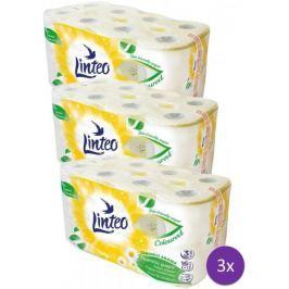 LINTEO satin rumiankowy papier toaletowy – 3 x 16 szt.