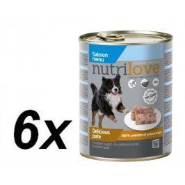 Nutrilove mokra karma dla psa z łososiem 6 x 800g