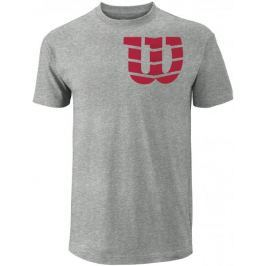 Wilson koszulka tenisowa M Shoulder W Cotton Tee He Grey/Red S
